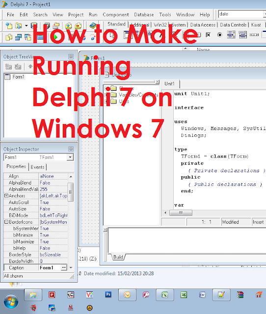 How to Make Running Delphi 7 on Windows 7