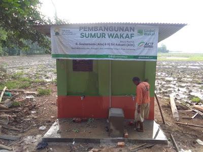 Sumur Wakaf Dibangun, Petani Desa Mojopahit Kecamatan Punggur Lampung Tengah Harapkan Panen Meningkat