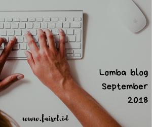 LOMBA BLOG SEPTEMBER 2018