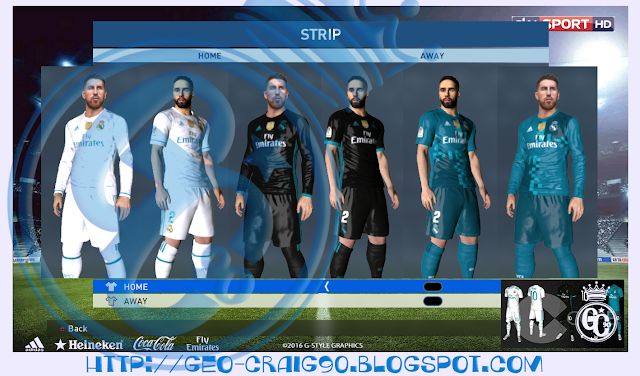PES 2017 Real Madrid Kit 2017-18 HD [RUMOR] V2 by Geo_Craig90