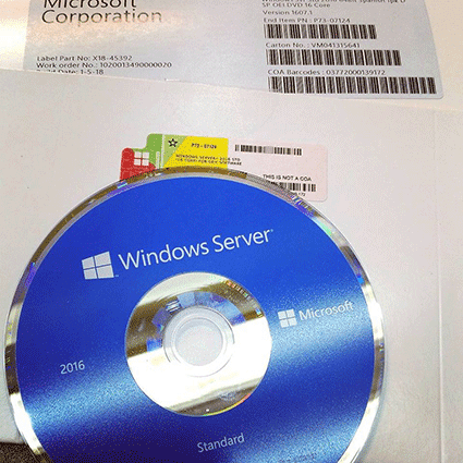 DVD original Windows Server 2016.