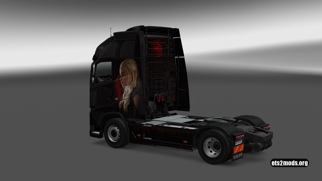 Daenerys Targaryen Skin for Volvo 2012