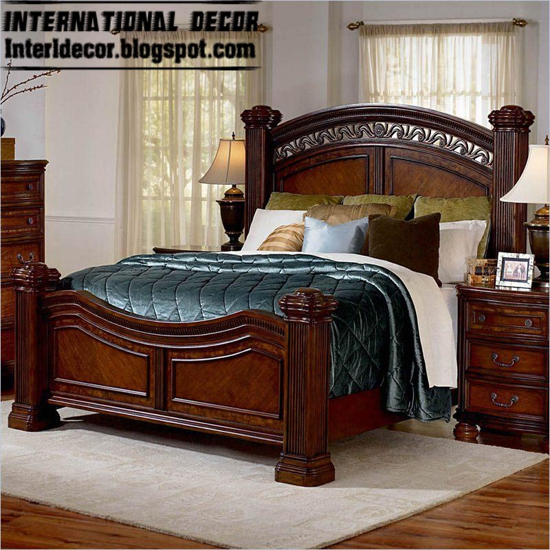 Turkish Bed Designs For Classic Bedrooms   Classic Wooden Bed