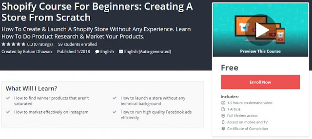 [FREE FOR LIMITED TIME] Shopify Course For Beginners: Creating A Store From Scratch