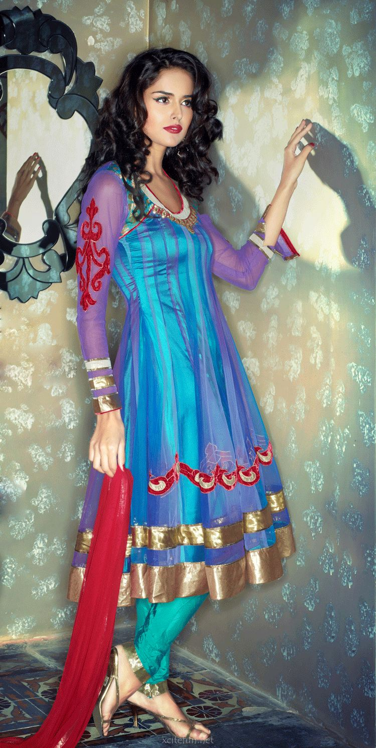 Latest Fashion Trend In Saree: 2013 Latest Anarkali Frocks