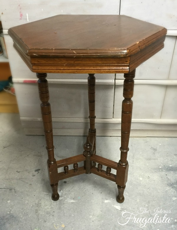 Antique Edwardian Tea Table Before