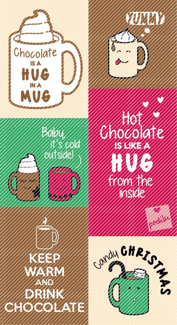 Hot chocolate Plotterserie mit niedlichen Tassen und coolen Sprüchen