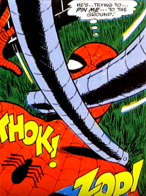 Amazing Spider-Man #55, john romita, spider-man is pinned to the ground by doctor octopus's tentacles