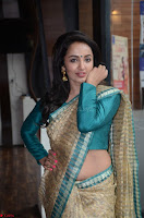 Tejaswi Madivada looks super cute in Saree at V care fund raising event COLORS ~  Exclusive 009.JPG