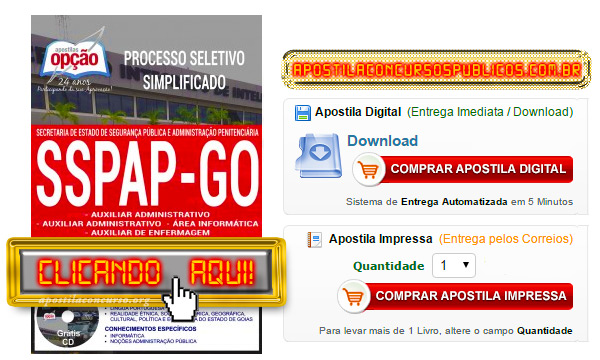 Apostila Concurso SSPAP GO 2017 PDF Download