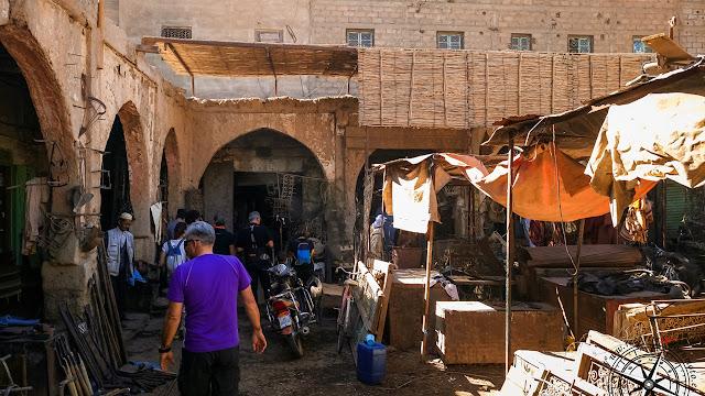 zona de herreros en el mercado