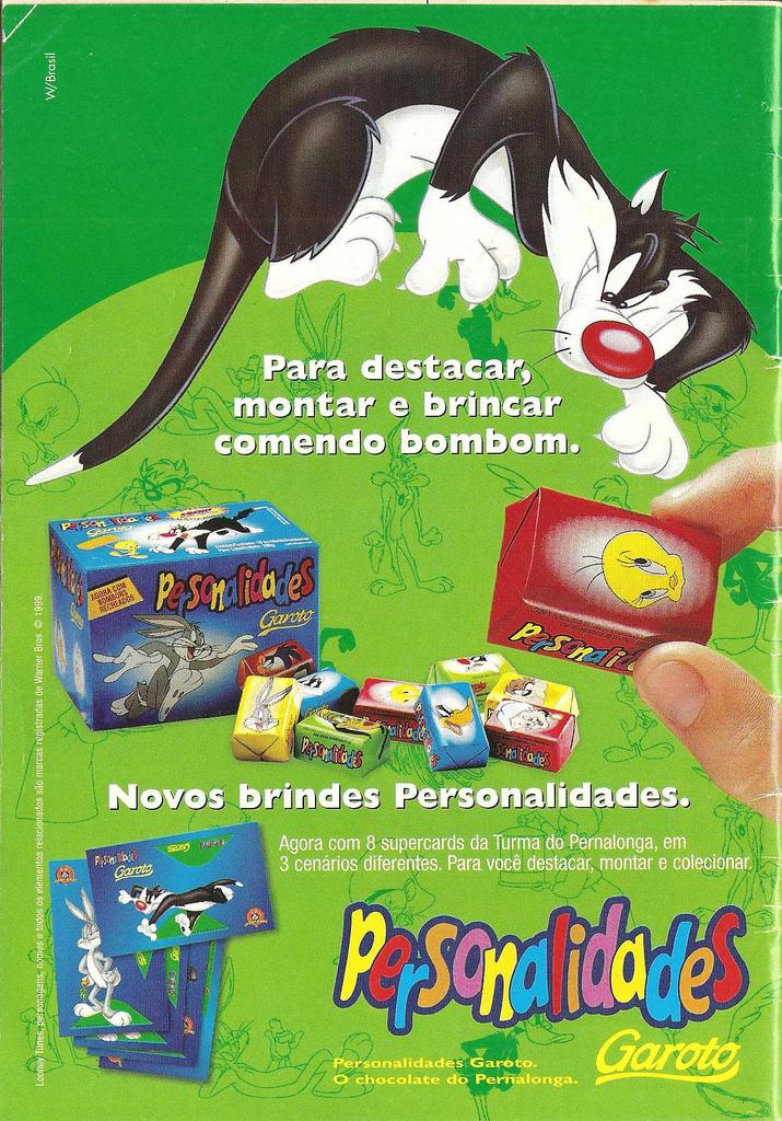 Caixa de bombons Personalidades da Garoto lançada em 1996