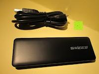 auspacken: Swees® 3200mAh Ultra-kompakt Externer Akku Smart-USB (Smartport für maximale Ladegeschwindigkeit) Powerbank Power Bank Ladegerät Powerpack Zusatzakku für iPhone 6 Plus 5S 5C 5, Samsung Galaxy S3 S4 S5 S6, Note 3 4, Tab 4 3 2 Pro, Nexus, HTC One, One 2 (M8), LG G3 und andere Smartphones MP3 MP4 Player - Schwarz