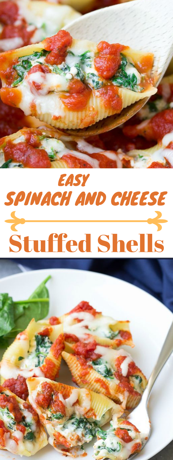 Spinach and Cheese Stuffed Shells #vegetarian #delicious