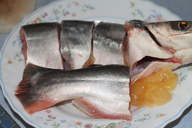 Masak Asam Rebus Tempoyak Ikan Patin