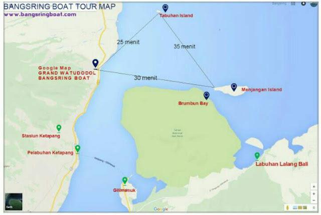 Akses menuju pulau menjangan melalui watudodol banyuwangi