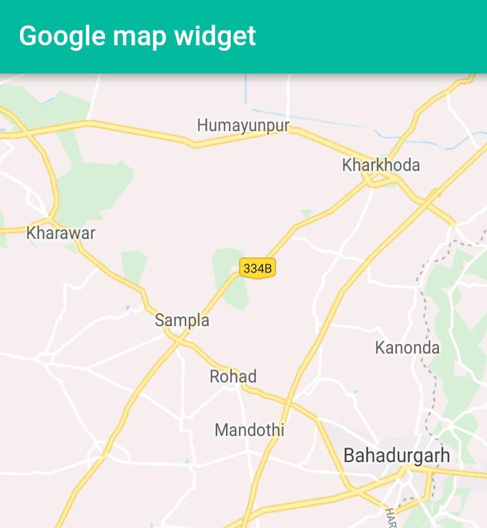 Flutter - Google map widget plugin example  ~ Developer Libs
