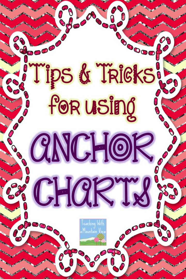 Teaching With a Mountain View Anchor Chart Tips  Tricks - anchor charts