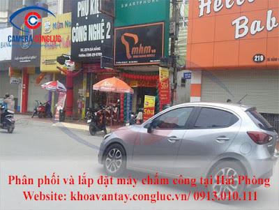 Cửa hàng điện thoại Minh Hoàng Mobile tại 217 Đà Nẵng – Ngô Quyền – Hải Phòng.