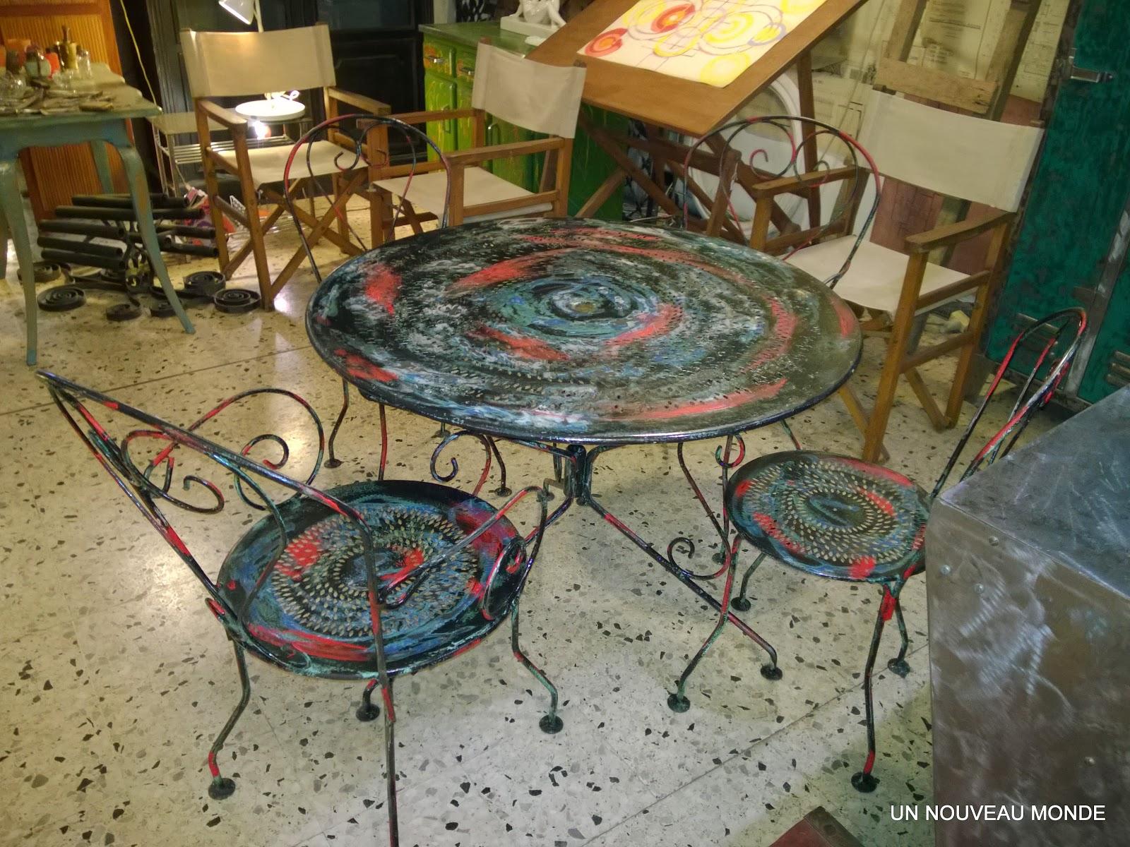 Salon De Jardin Fer Forgé Marocain | Chezmomo Deco Artisanat ...
