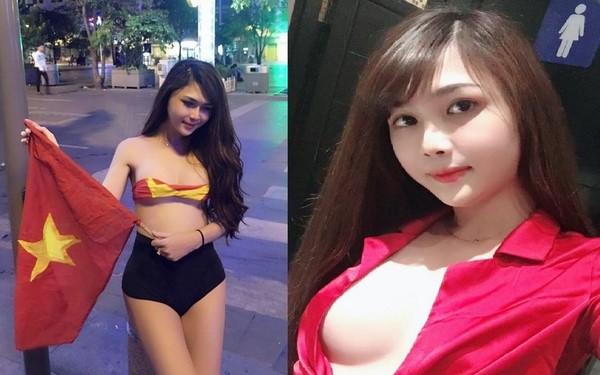 """Nóng : """"Hotgirl"""" cởi sạch đồ ăn mừng chiến thắng của U23 Việt Nam là nam chuyển giới?"""