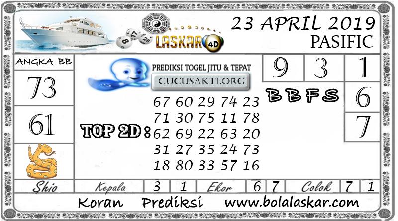 Prediksi Togel PASIFIC LASKAR4D 23 APRIL 2019