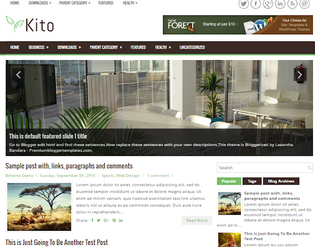 Kito Blogger Template