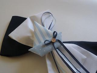 Στολισμός βάπτισης λευκός μπλε φιόγκος κολυμπήθρας καραβάκι