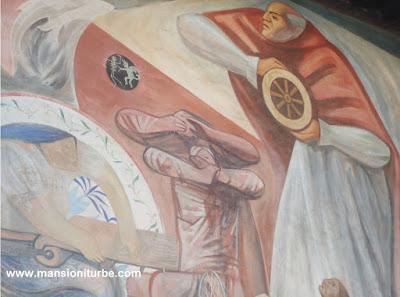 Mural en honor de Don Vasco de Quiroga en Pátzcuaro