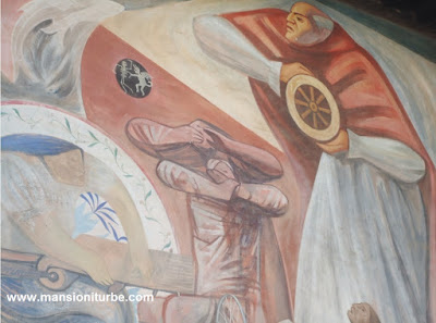 Don Vasco de Quiroga Mural at Casa de los Once Patios in Patzcuaro, Michoacán