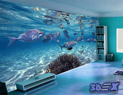 3d wallpaper designs, 3d wallpaper for walls, 3d undersea wallpaper for living room