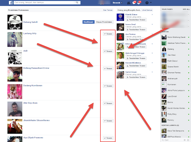 Cara Mudah Konfirmasi Ribuan Teman Di Facebook Dalam Satu Klik