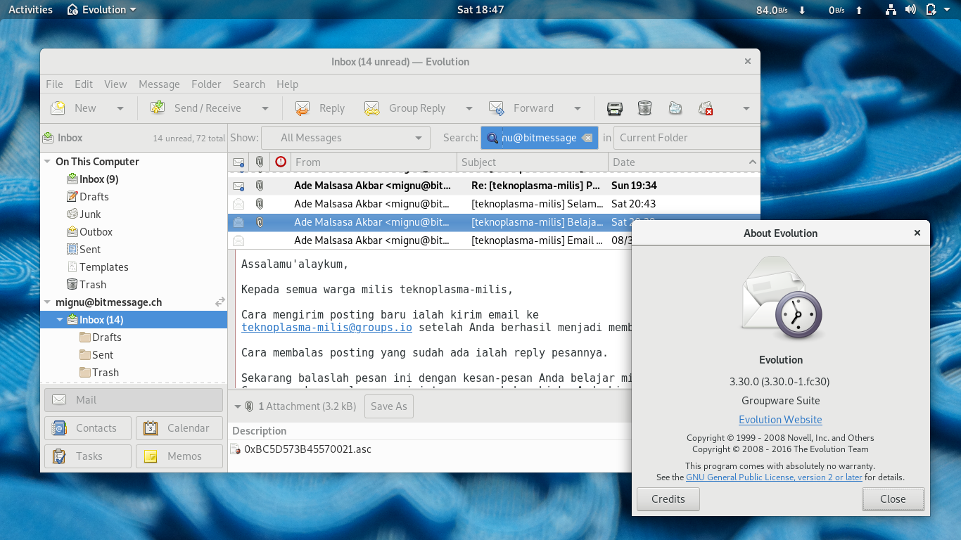 Easy Setup Email Encryption with Evolution Mail Client