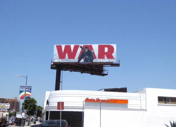 War for Planet of Apes billboard