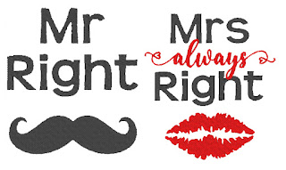 Matriz de bordado casamento Mr right