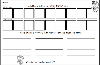FREE Mystery Name for a getting to know you activity