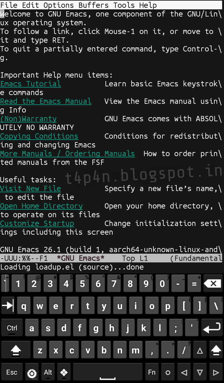 How To Install Emacs In Android No Root Termux