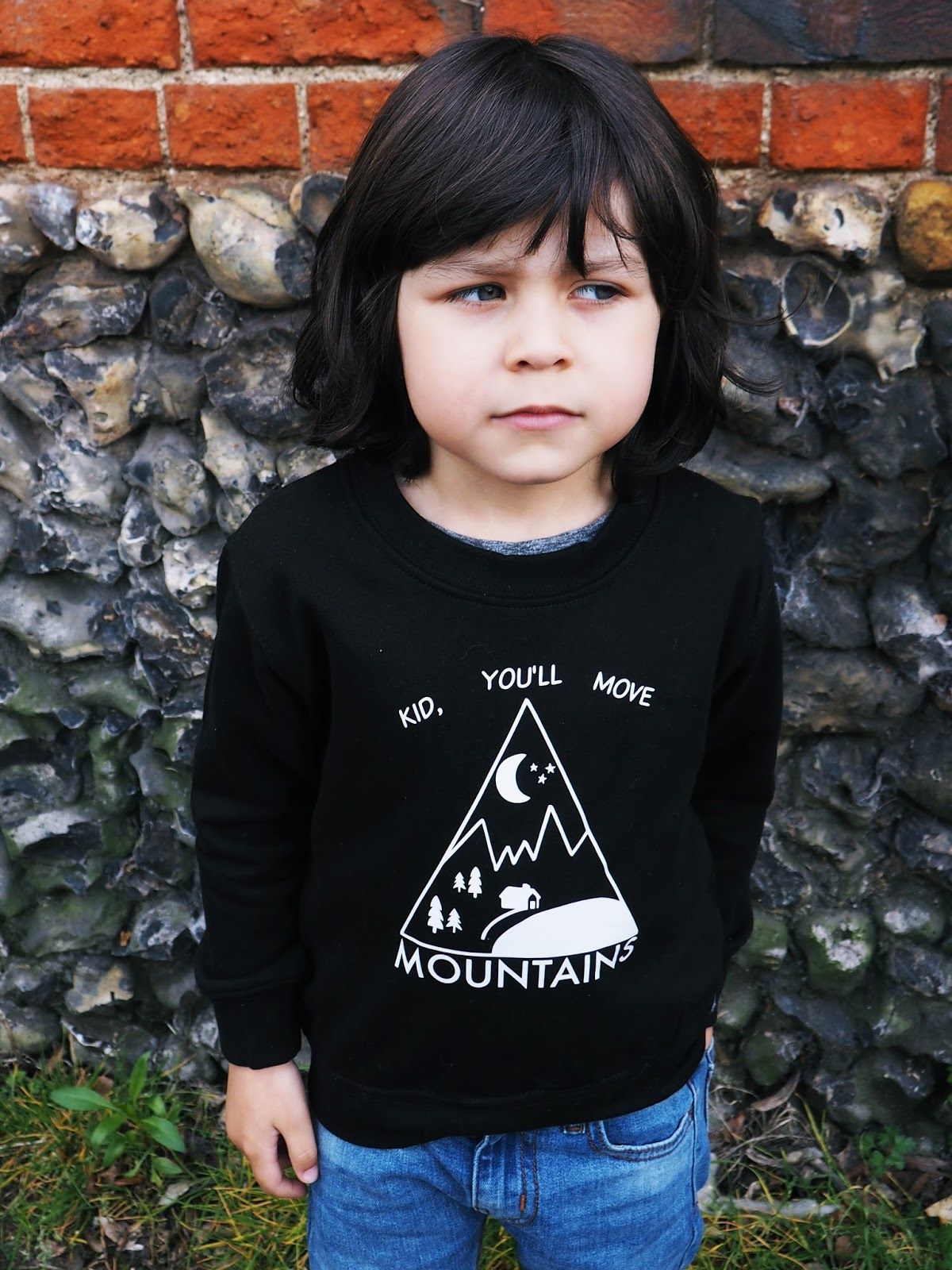 Kid you will move mountains sweater