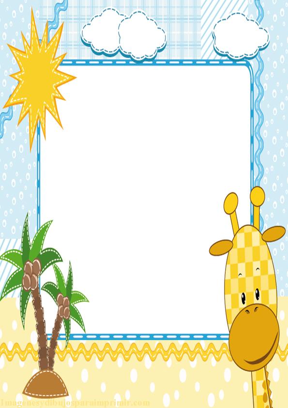 Marcos para fotos infantiles imagenes y dibujos para imprimir - Marcos para decorar ...