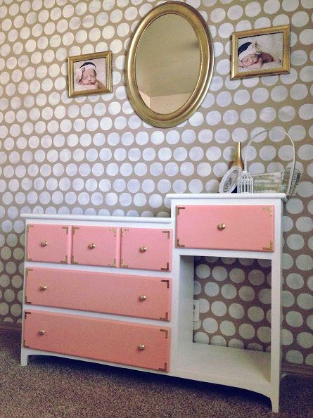 Coral Baby Changing Table Dresser