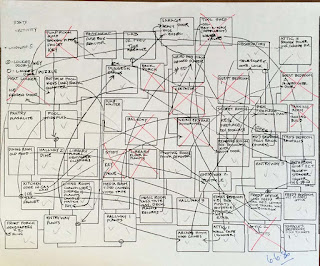 Mapa estructura Maniac Mansion