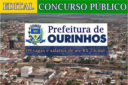 Edital concurso da Prefeitura de Ourinhos 2017/2018.