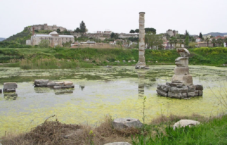 Temple of Artemis at Ephesus turns into swamp due to ...