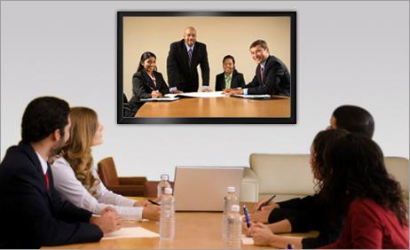 Ngày nay làm việc bằng thiết bị hội nghị truyền hình rất phổ biến