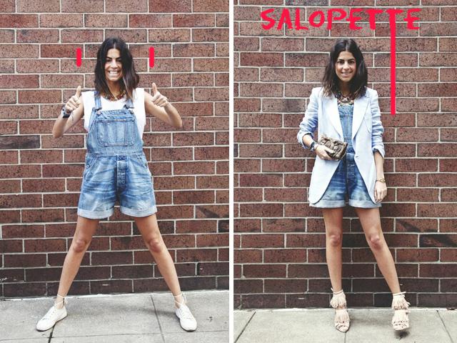 mode des salopettes short