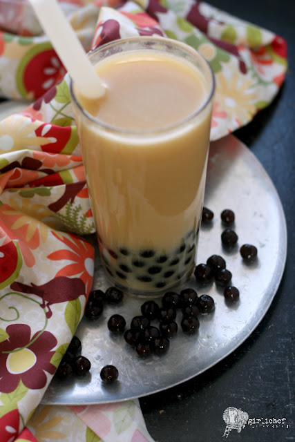 Ginger Peach Bubble Tea