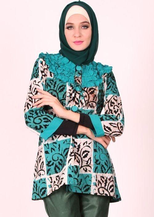 Style Baju Batik Wanita Hijab   TulisanViral.Info