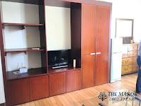 Cho thuê căn hộ studio The Manor 2 quận Bình Thạnh | tủ kệ tivi phòng khách
