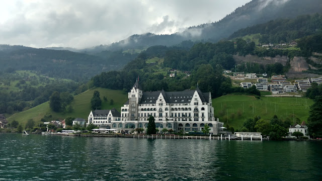 a view back on this idyllic Swiss town from Lake Lucerne