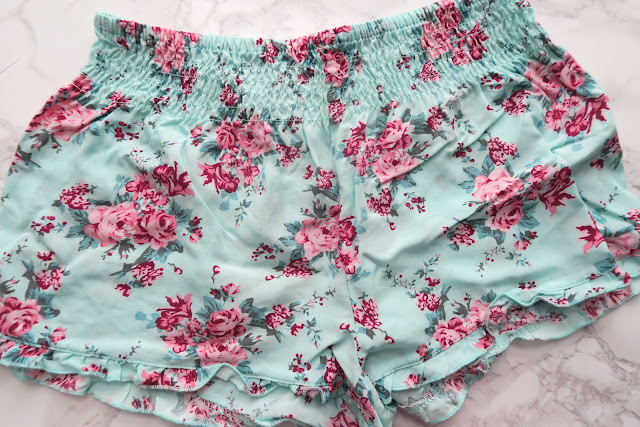 Floral pyjama shorts
